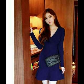 Korean Sexy Knitted Dress (Repriced)