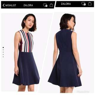 Zalora stripes dress New with tag