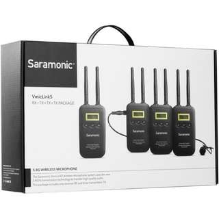 Saramonic VmicLink5 5.8 GHz SHF Three Microphone Wireless Lavalier and Receiver System