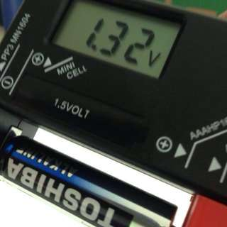 NEW! Digital Battery Checker for 1.5V (AA, AAA, C, D Sizes; Button Cells too) and 9V Batteries, Improved Version