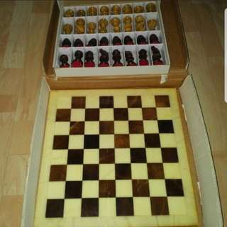 Marble and Alabaster Chess Set from Italy