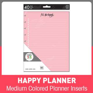 Happy Planner® Colored Planner Inserts - Classic