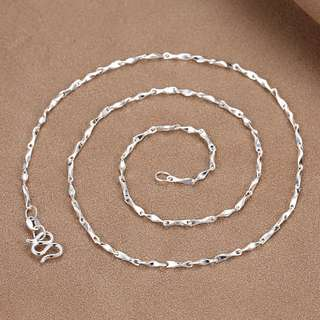 88雜貨鋪 990純銀元寶鏈/鎖骨鏈 銀項鏈 不過敏 多款任選 不同重量不同價格
