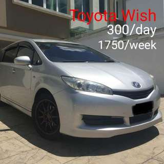 MPV Toyota Wish Sewa / Car rental 0192797800