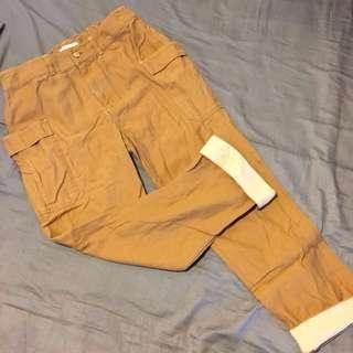 🚚 Tiara Tiara專櫃購入,日本森林系焦糖色工裝褲