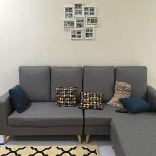 3-4 Sofa Seater with Footstool (Scandinavian design)