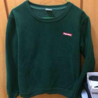 Supreme墨綠色衛衣