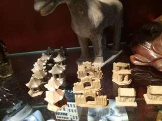 Mini clay house, bridge, etc.