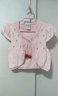 Brand New Pink Knitted Girl Cardigan with hood