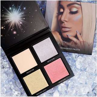 huda beauty winter solstice highlighter pallet