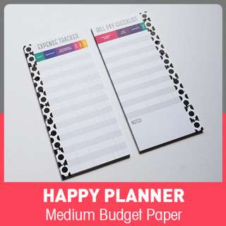 Budget - Half Sheet - Happy Planner Classic