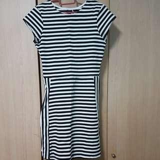 Stripe Dress (black and white)