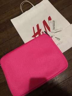 H&M pink laptop case