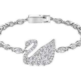 Swarovski swan bracelet