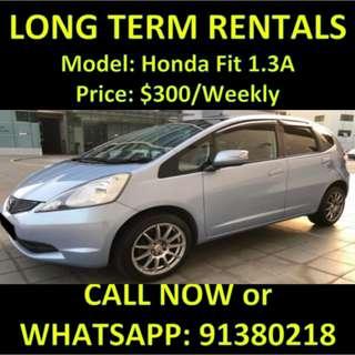 Honda Fit 1.3A $300 Long Term Rental Car