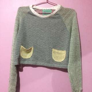 Multicolor knit sweater (rajut)