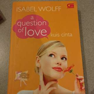chicklit the question of love - isabel wolff