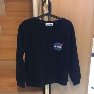 NASA 黑色大學T