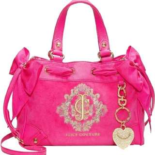 Juicy Couture snowflake velour daydreamer mini Bag