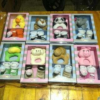 Newborn Toy & Sock