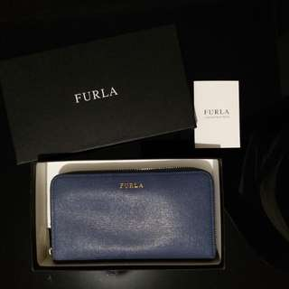 Furla long wallet Babylon 藍色
