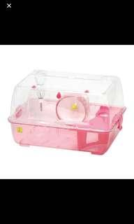 Wild Sanko Roomy Pink Hamster Cage