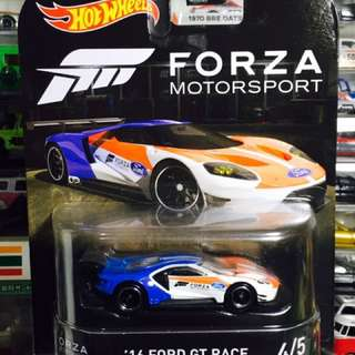 Hot Wheels Retro Entertainment Forza Motorsport Racing Game '16 Ford GT Racer 福特 GT (Tomica Matchbox Size)