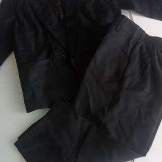 Setelan jas anak warna hitam