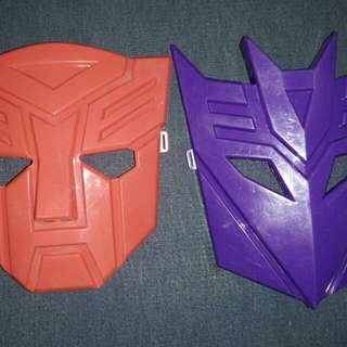 Transformers Autobot and Decepticon Masks