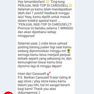 Thanks carousell💙