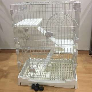 3 tier Pet Cage White