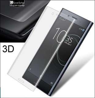 SONY XPERIA 全屏覆蓋 3D 鋼化玻璃貼 9H曲屏膜 XZ1 Compact XZ Premium XZS