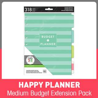 Medium Happy Planner™ Budget Edition Extension Pack
