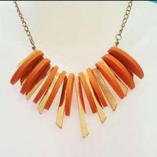 FREE!! brand new orange necklace