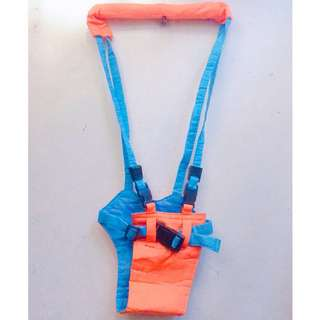 Moonwalk Baby Walker, Pediatric belt (Orange/Blue)