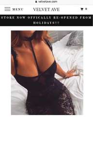 Black lace mini dress w choker