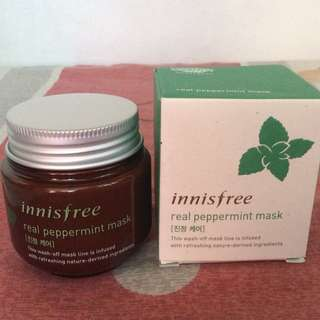 NEW Innisfree real peppermint mask