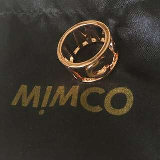 Mimco Estatica Name Ring Rose Gold Medium