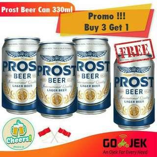 Promo!! Minuman Soda Bir - Beer Prost 330 ml