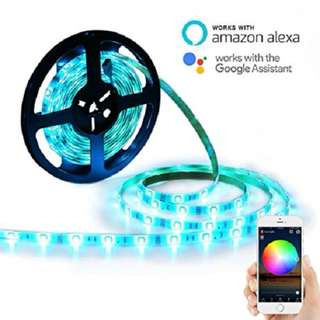 Smart WiFi LED Strip Lights Multicolor 5m with Mobile App, Google & Alexa Support