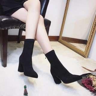 Black Suede Heels