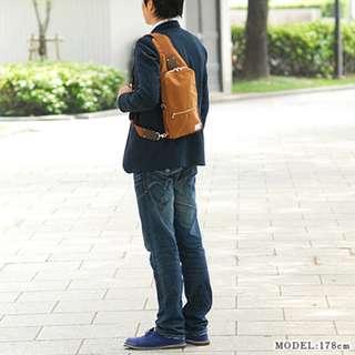 porter防水尼龍牛皮斜咩袋10.5-inch iPad Pro one shoulder bag單肩後背包leather campus pack電單車bicycle bike chest銅色 Bronze
