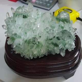 Green Phantom Crystal Cluster