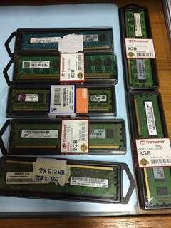 Assorted memory modules (RAM)