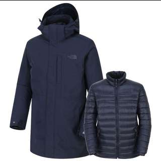 The north face double jacket waterproof