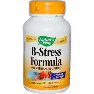 維他命B  B-Stress Formula 含西伯利亞刺五加 減壓配方