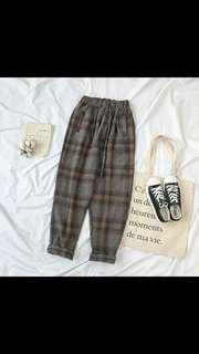 (PO) basic checkered Jogger Pants