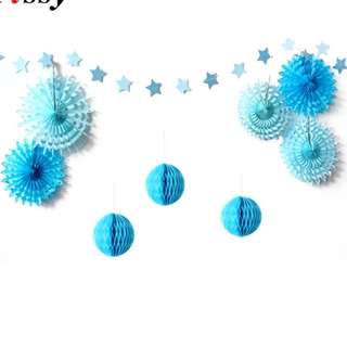 Blue birthday decoration set