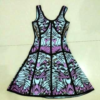Flare Dress (Bahan Karet Tebal)
