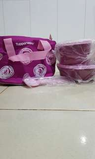 Tupperware Lunch Box Set Purple